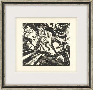 """Bild """"Reitschule nach Ridinger"""" (1913)"""
