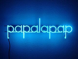 "Leuchtobjekt ""papalapap (cobalt blue)"" (2020)"