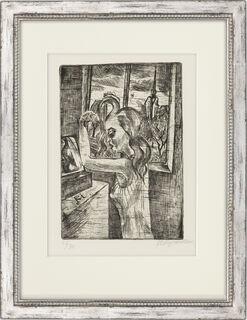 """Bild """"Frau am Morgen - Das Kämmen"""" (1920)"""