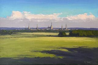 """Bild """"Lübeck im Abendlicht"""" (2020) (Unikat)"""