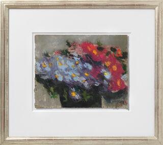 """Bild """"Blaue und rote Astern"""" (1991) (Unikat)"""