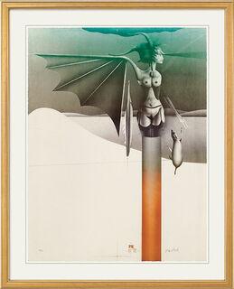 """Bild """"Sphinx vor Landschaft"""" (1979)"""