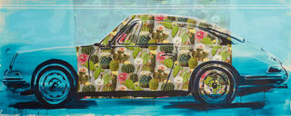 "Bild ""Cactus-Porsche 911"" (2021) (Unikat)"