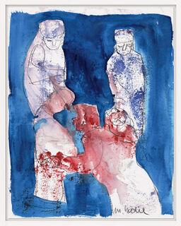 """Bild """"Im Gespräch"""" (2007) (Unikat)"""