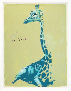 "Bild ""Serie Lichtblick | Giraffe"" (2021) (Unikat)"