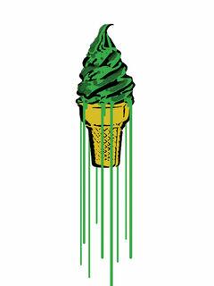 "Bild ""Green Glitter Icecream"" (2015)"