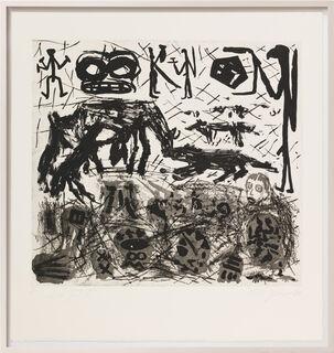 """Bild """"Was einem Emigranten durch den Kopf geht - Tafel III"""" (1987) (Unikat)"""