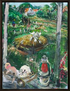 """Bild """"Misthaufen"""" (1987) (Unikat)"""