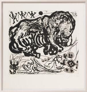 """Bild """"Was einem Emigranten durch den Kopf geht - Tafel V"""" (1987) (Unikat)"""